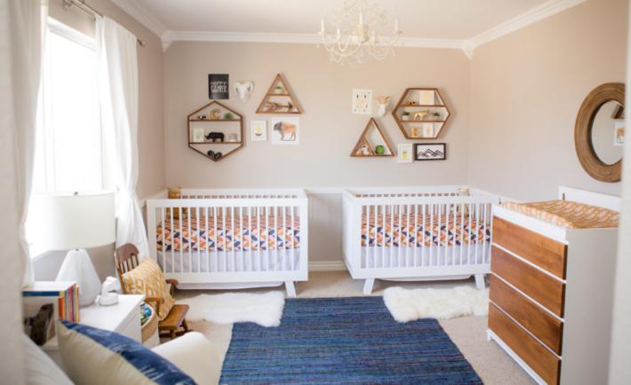Modern Boho Twin Nursery
