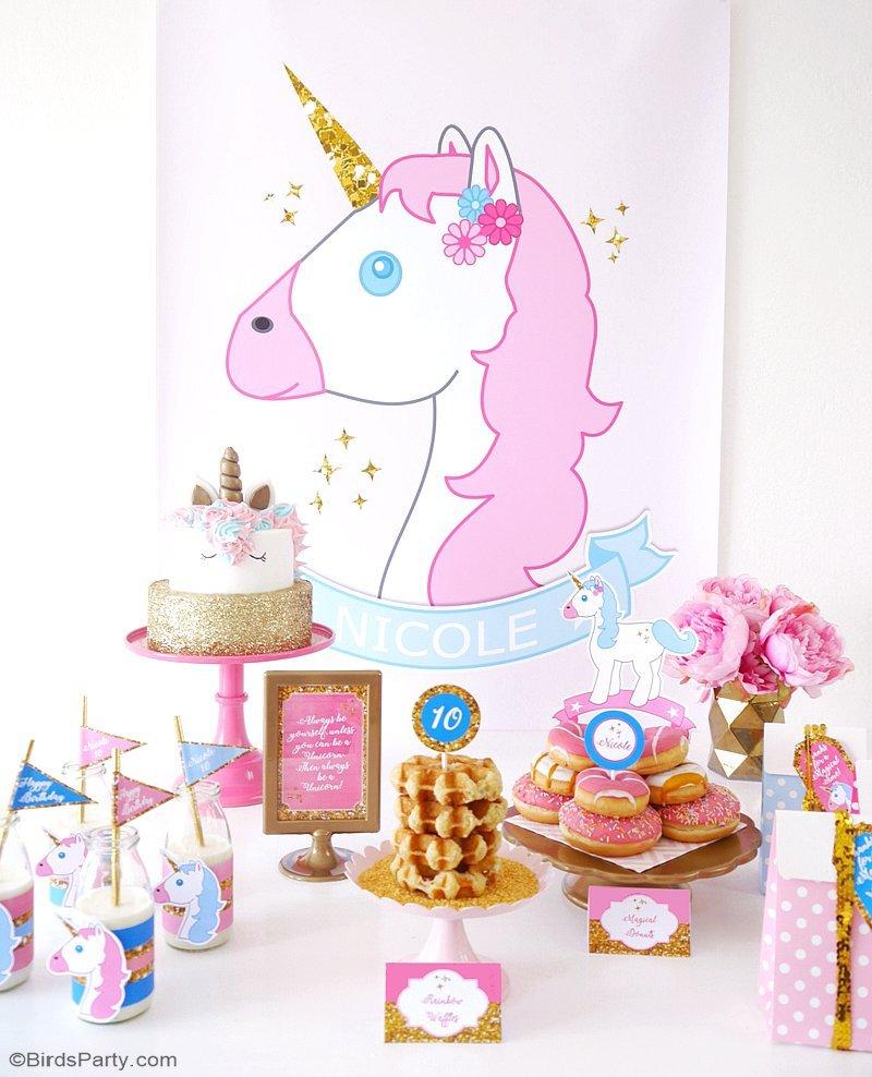 unicorn birthday slumber party project nursery. Black Bedroom Furniture Sets. Home Design Ideas