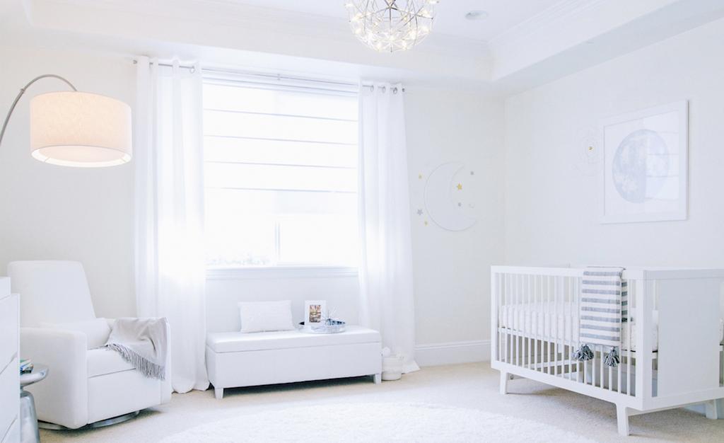 & All White Nursery Reveal: An e-Design Come to Life - Project Nursery