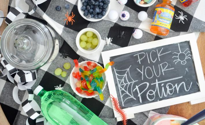 DIY Halloween Potion Drinks