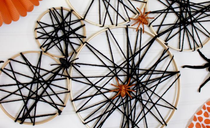 DIY Spider Web Halloween Craft