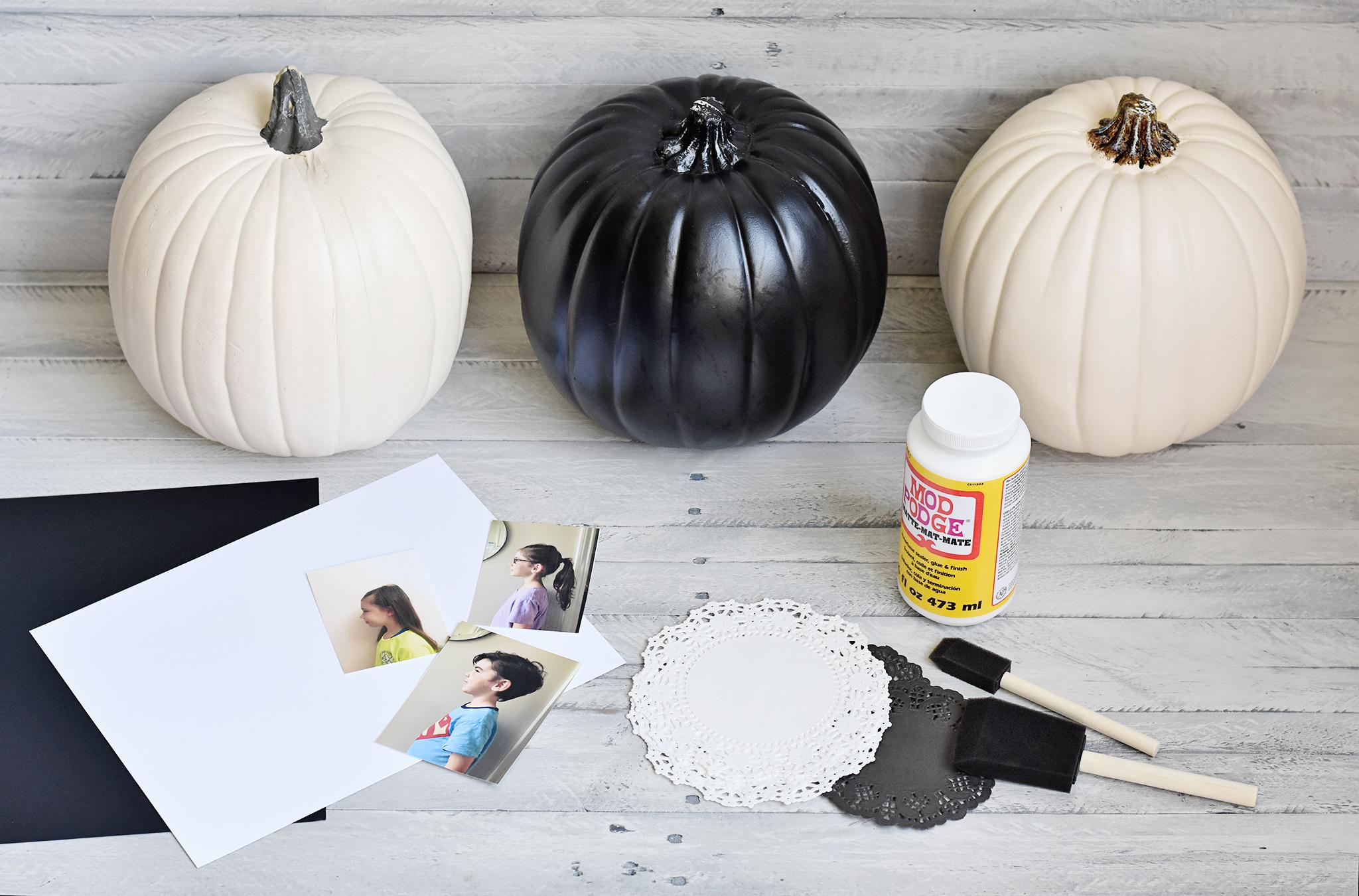 Cameo Locket Pumpkins - Gather your Supplies First!