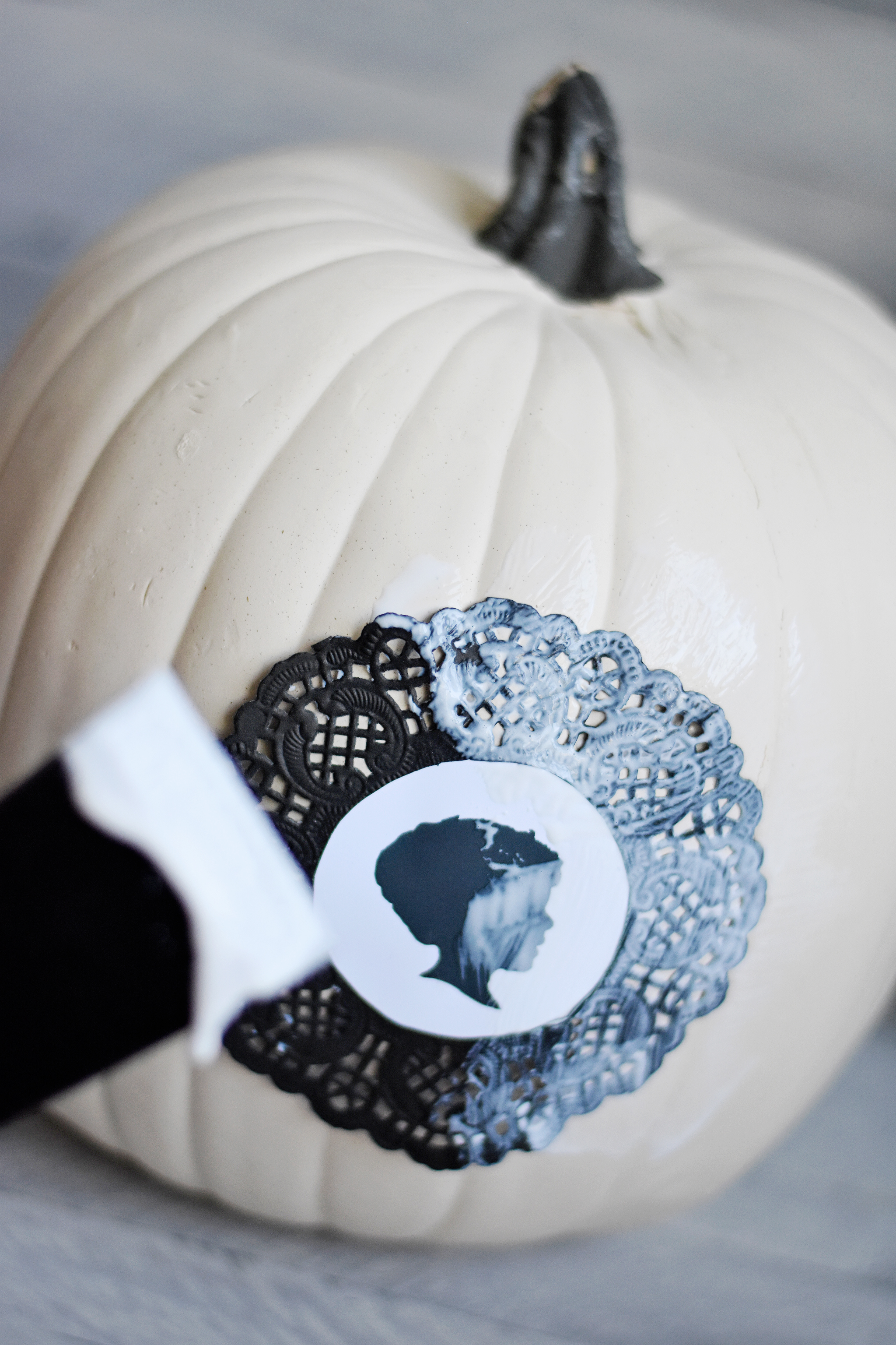 Decoupage your cameos onto your pumpkins!