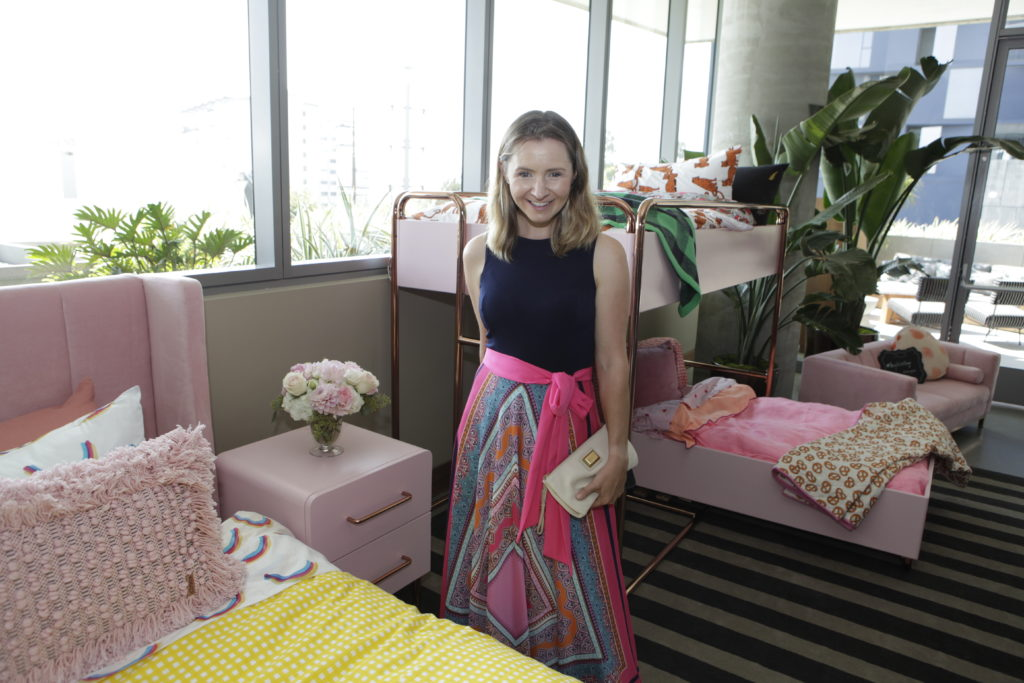 Beverly Mitchell at Incy Interiors & Project Nursery Event