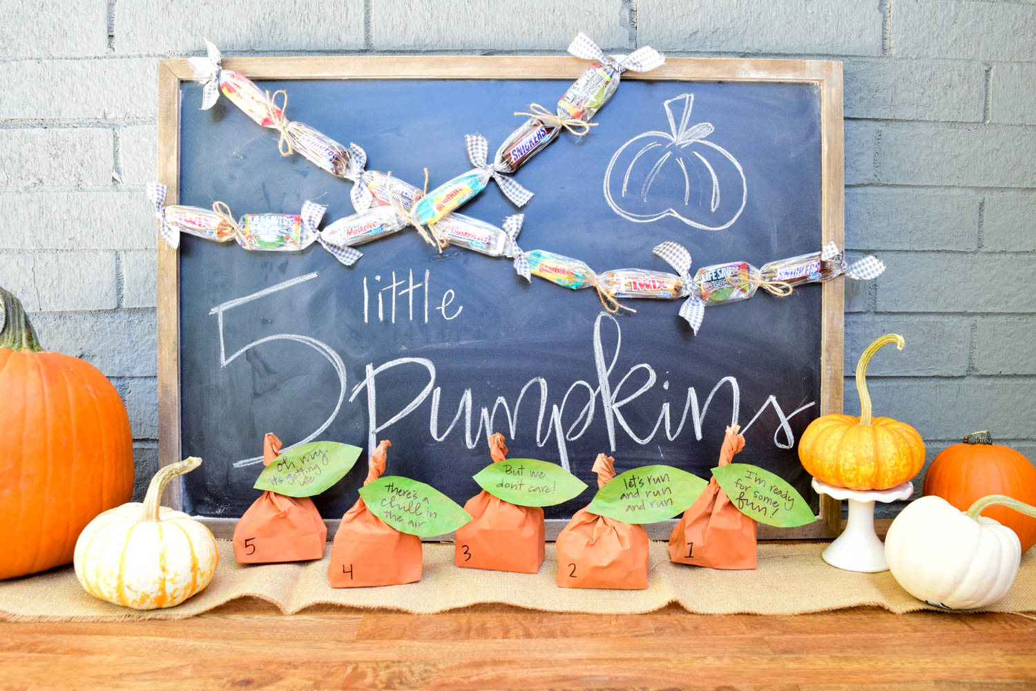 Halloween Countdown Five Little Pumpkins Activity