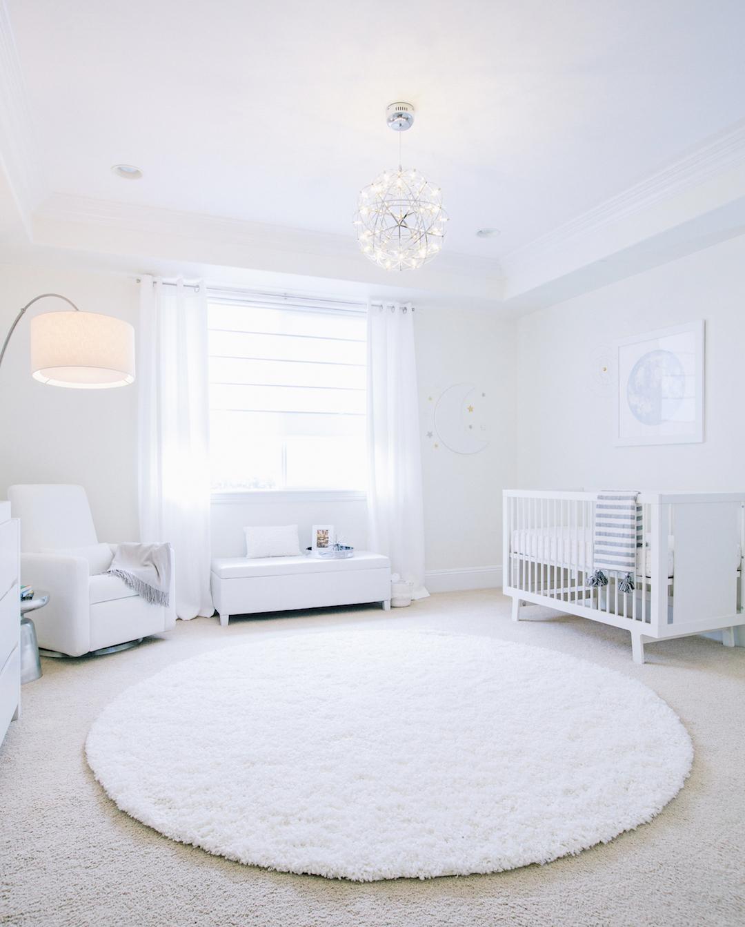 All White Nursery Reveal An E Design Come To Life