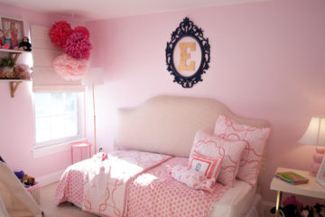 Pink and Coral Bedroom