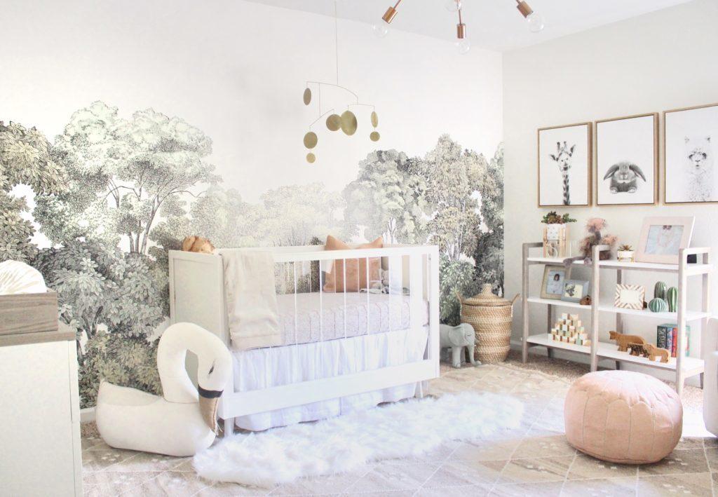 Serene Nature-Inspired Girl Nursery