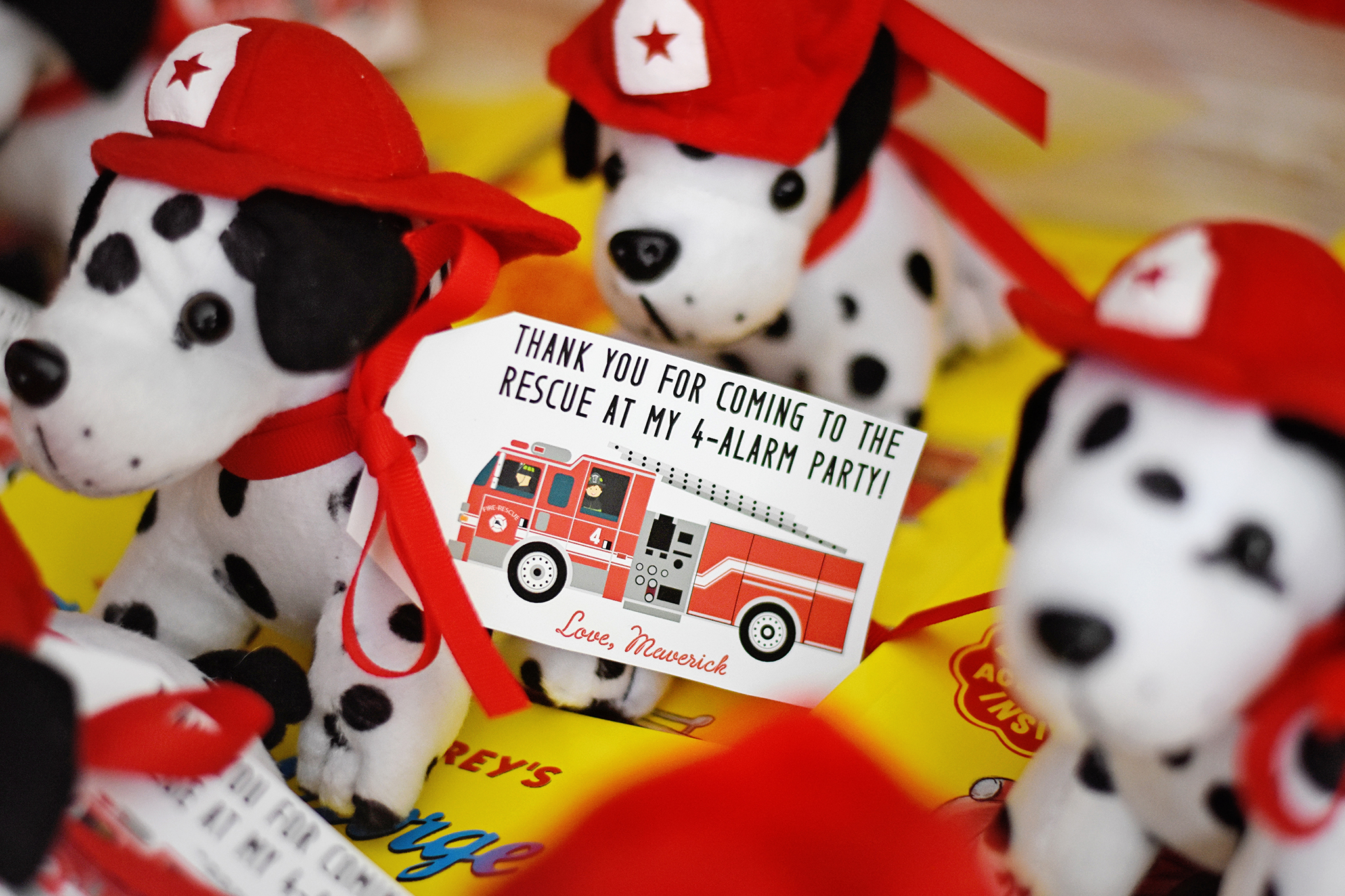 sound the alarm for the ultimate fire truck birthday party