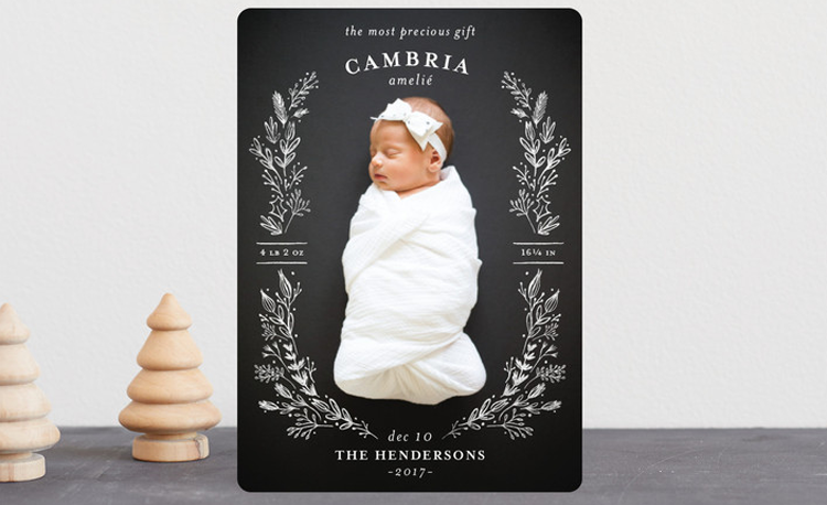 photo of 15 Adorable Holiday Card Birth Announcements
