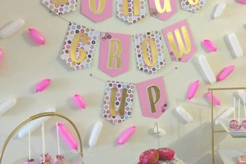 Donut Grow Up 4th Birthday Party