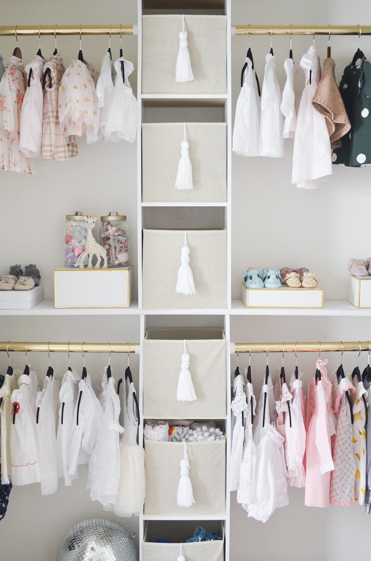 DIY Nursery Closet Interior View