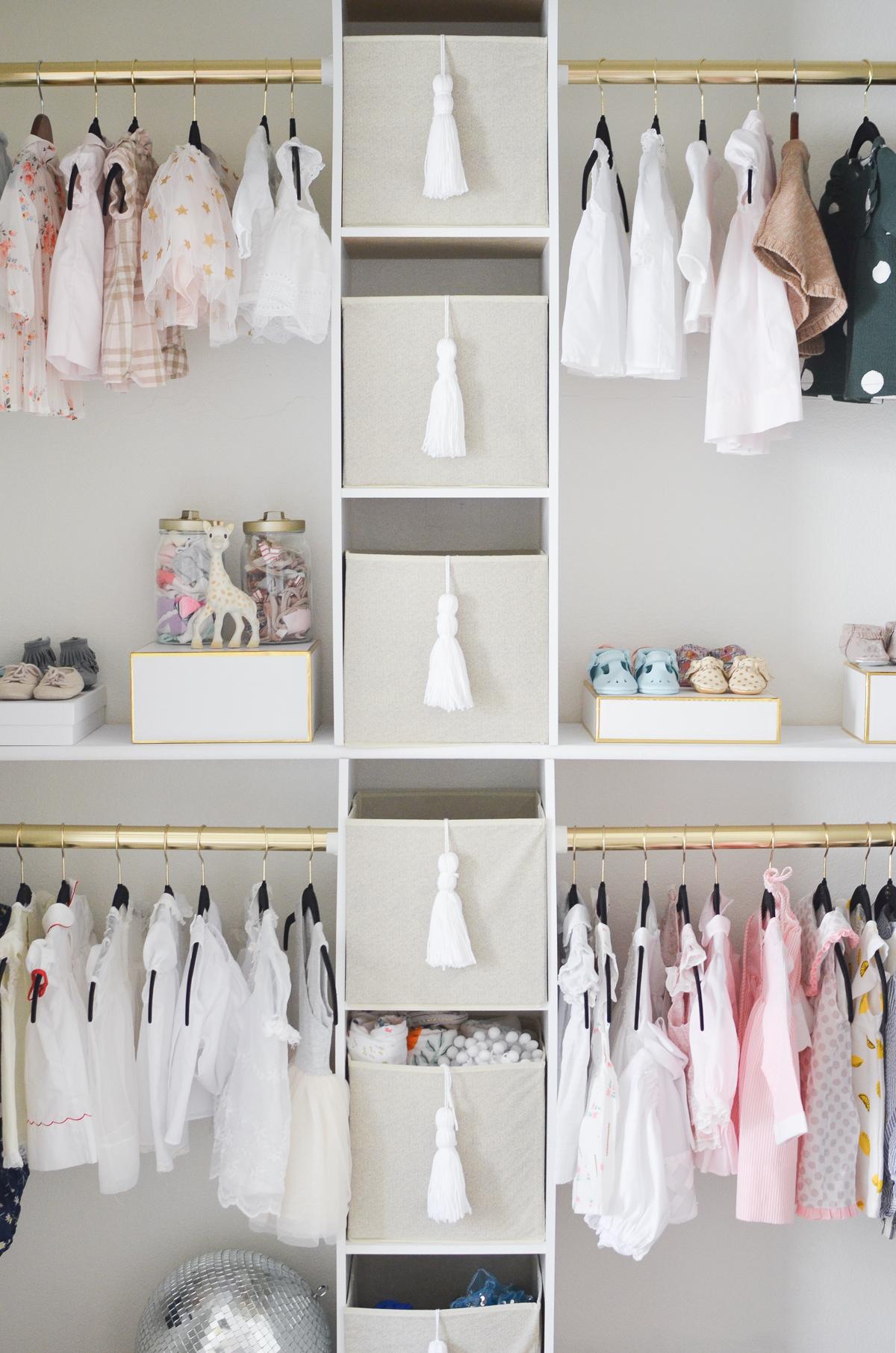 DIY Nursery Closet Interior View