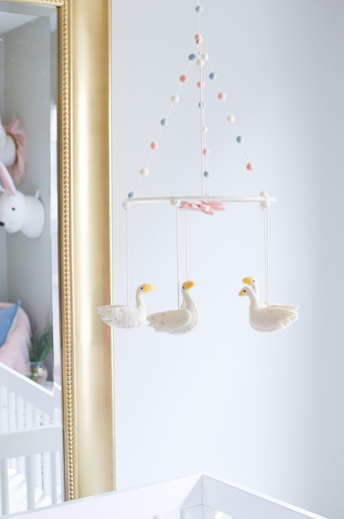 Swan Mobile in Swan Inspired Nursery