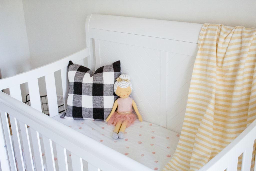 Millennial Pink Nursery crib