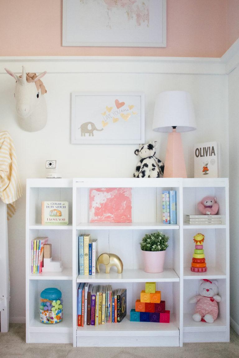 Millennial Pink Nursery storage