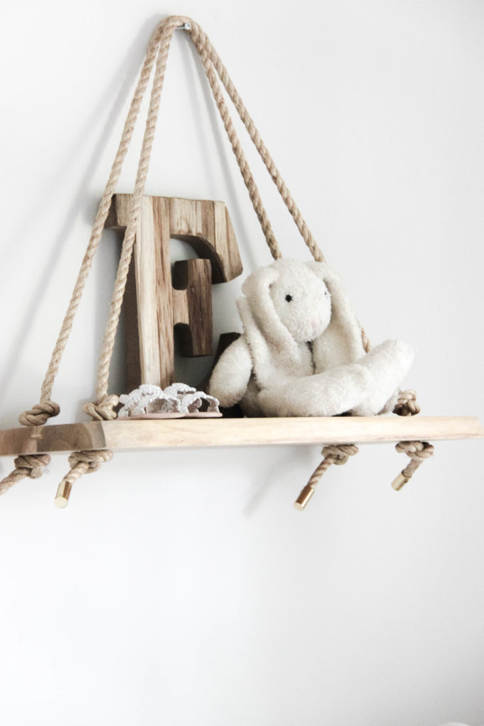 Wood Swing Shelf in Nursery