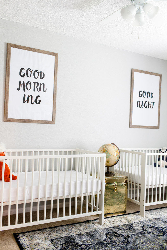 Walt and Whitney's Neutral Twin Nursery