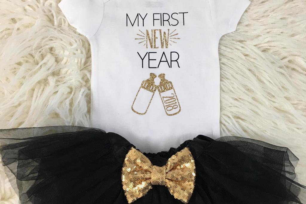 New Year Onesie Tutu