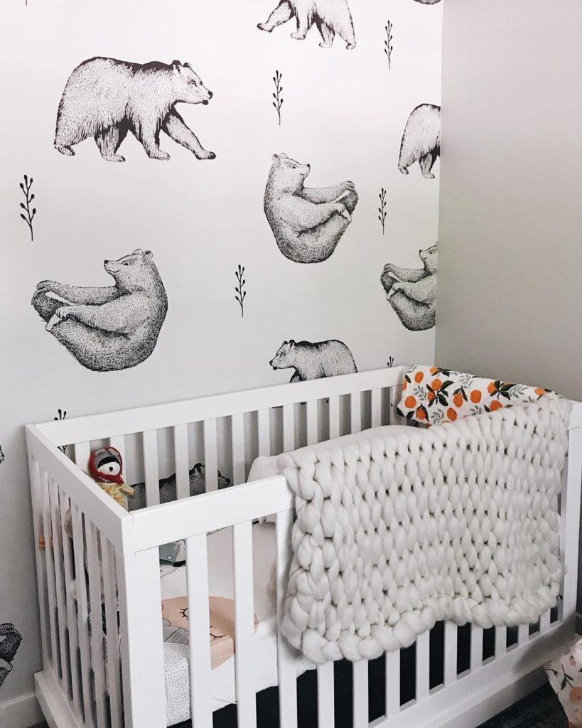 Nursery With Bear Wallpaper