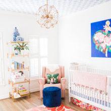 photo of Bright, Mixed-Pattern Girl Nursery