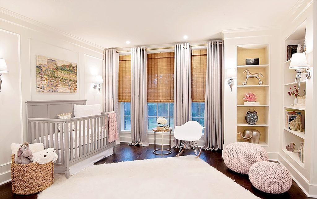 timeless baby girl nursery designed by newborn photographer in Houston