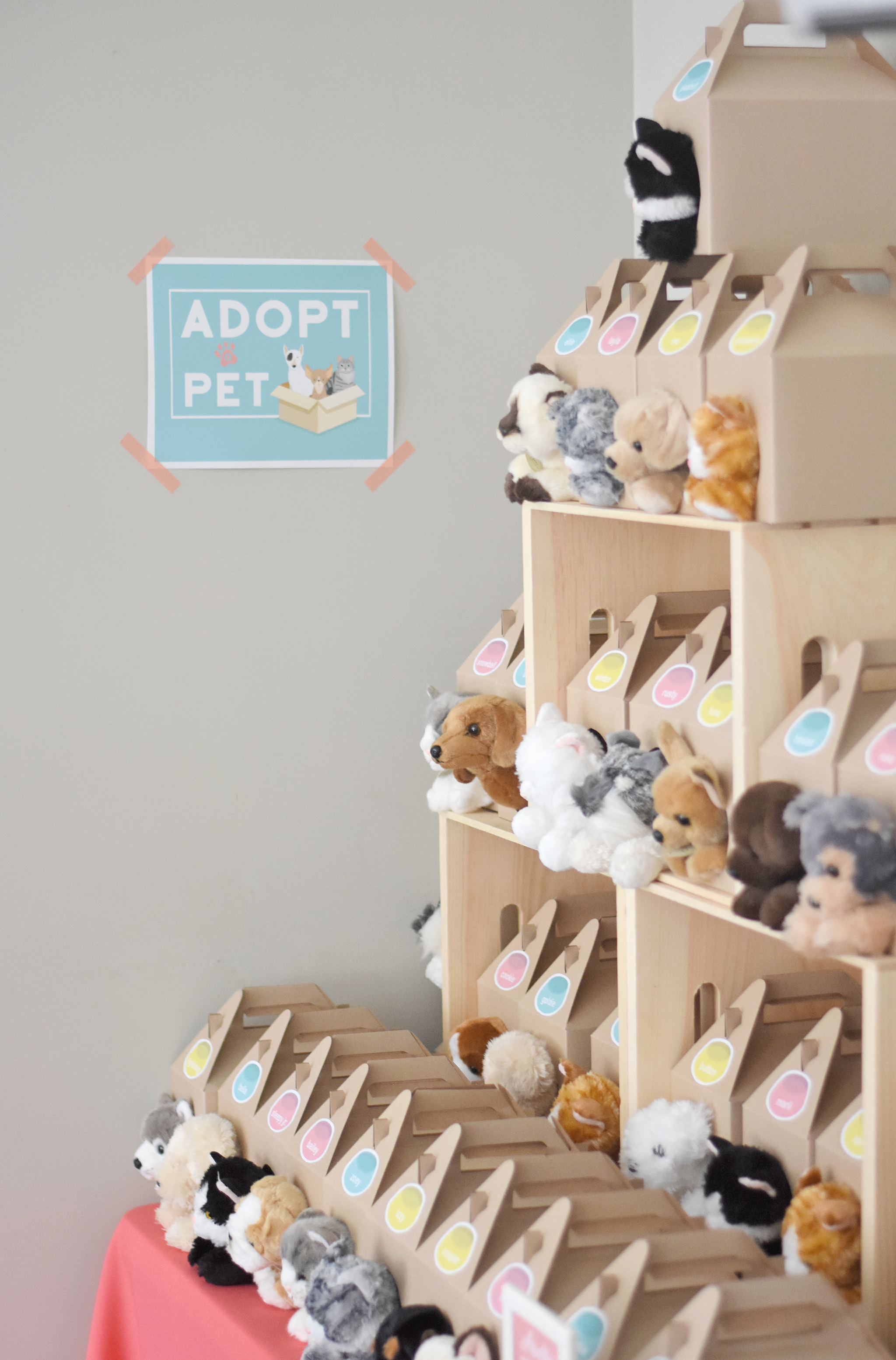 Adopt a pet party favors!