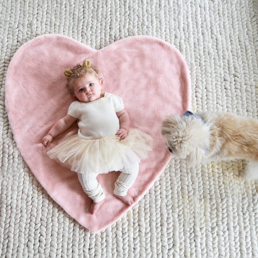 Plush Heart Shaped Blanket