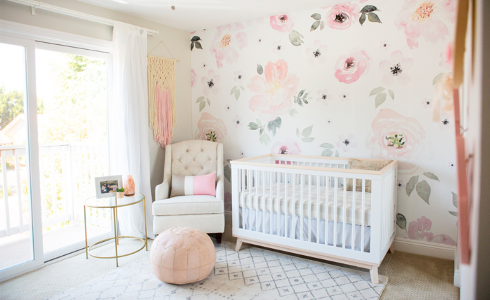 Jolie Wallpaper Floral Nursery