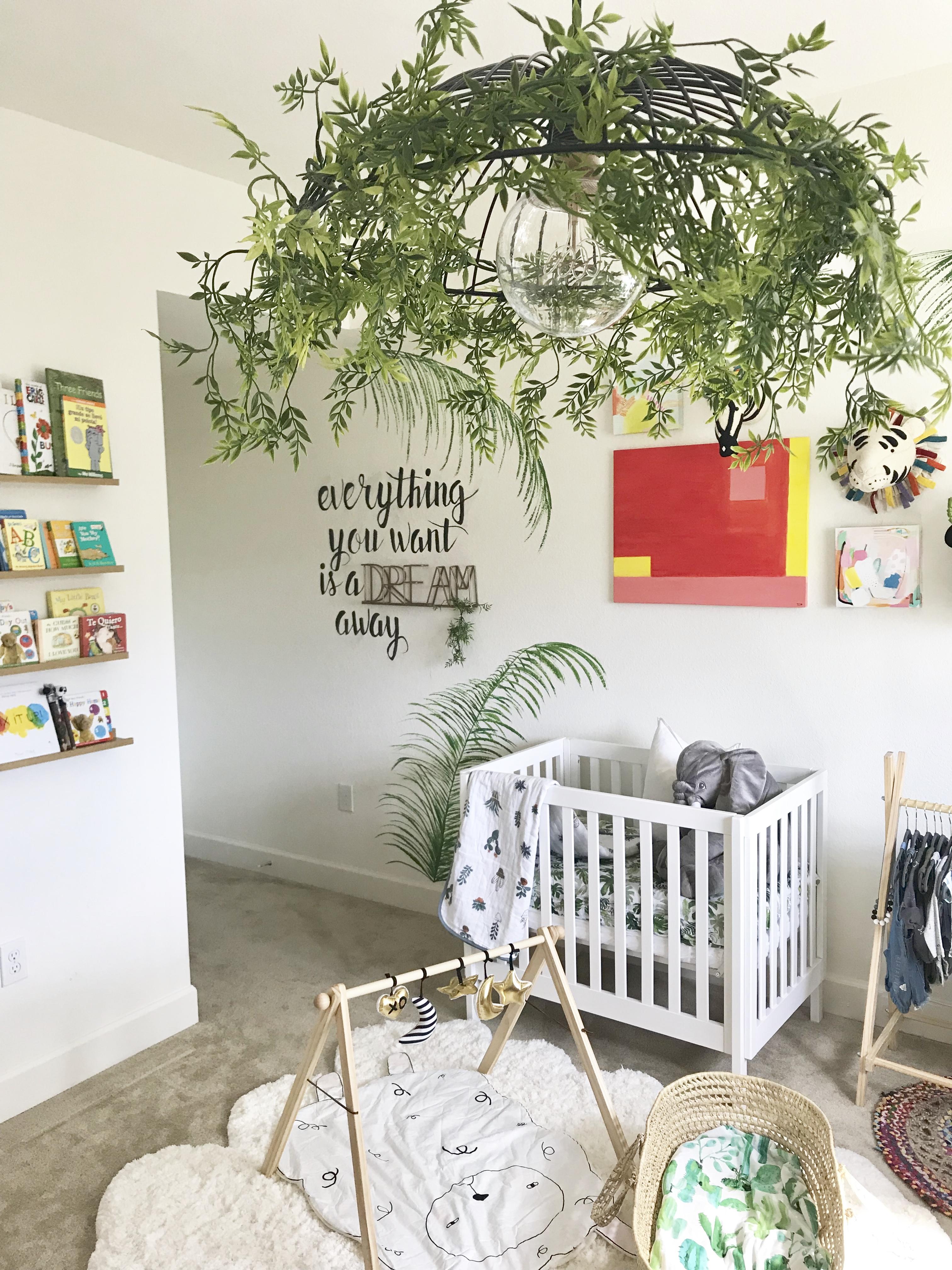 Tropic Paradise meets Boho DIY Nursery Project Nursery
