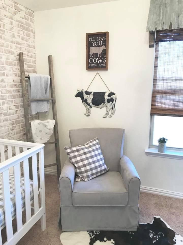 Infant Boys Room: Farmhouse Nursery