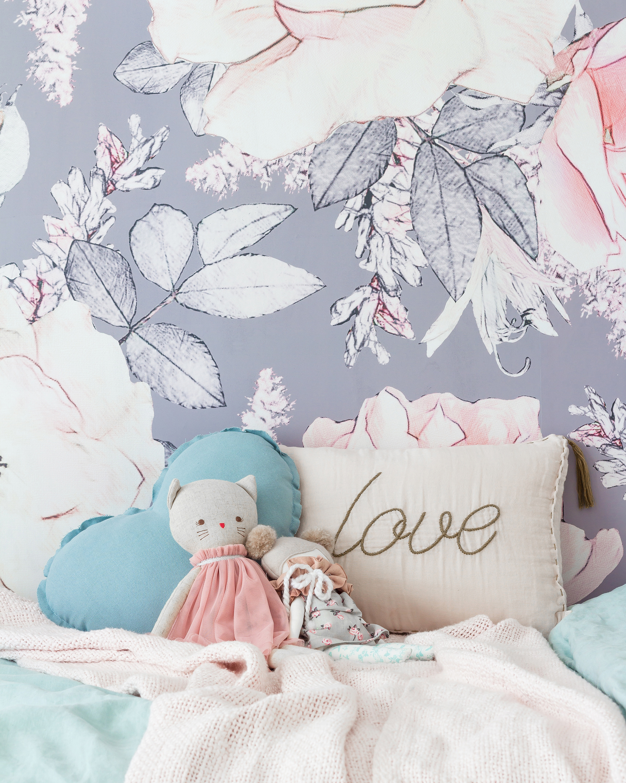 Floral Girl's Toddler Room