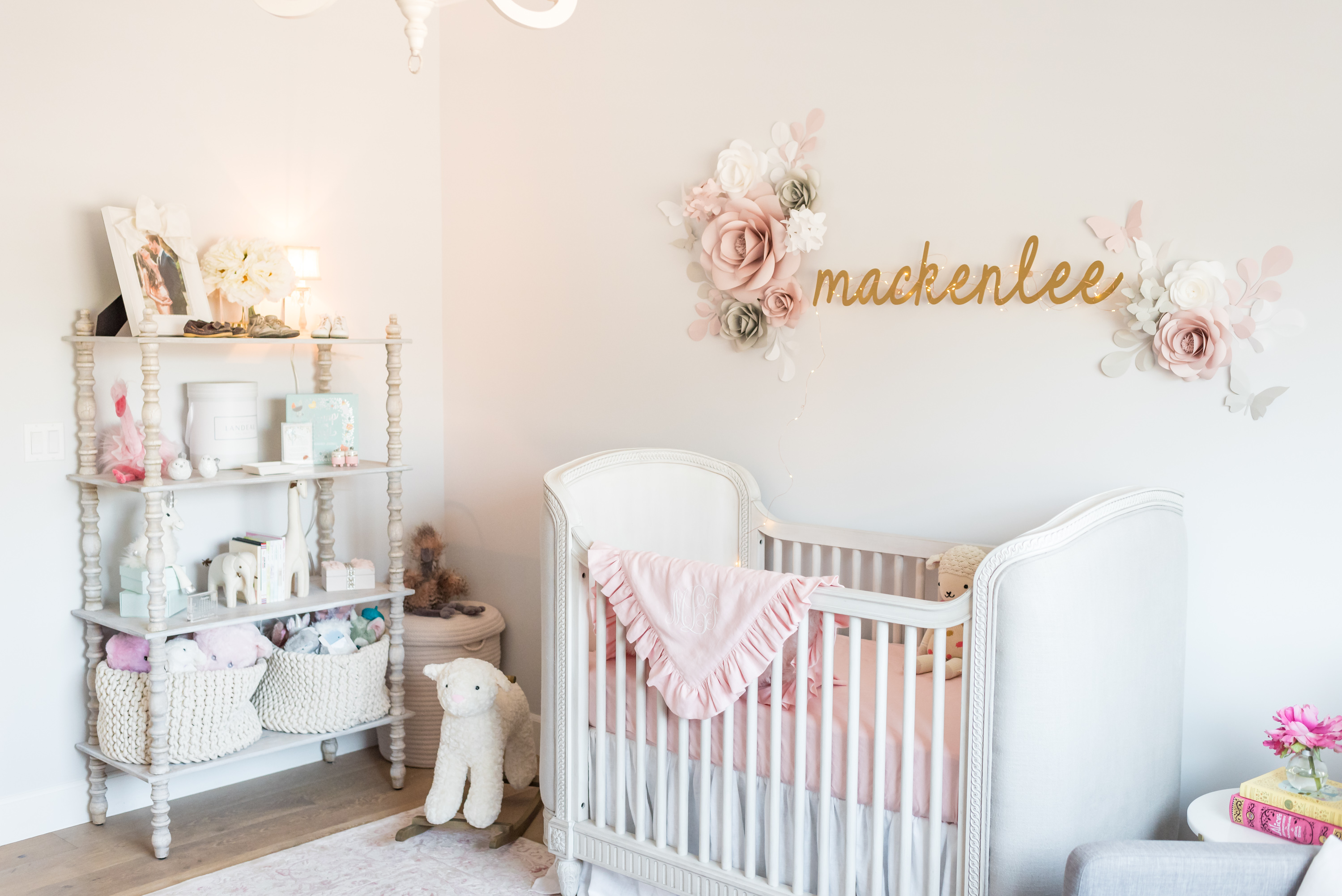Pink and Gray Traditional Girl's Nursery