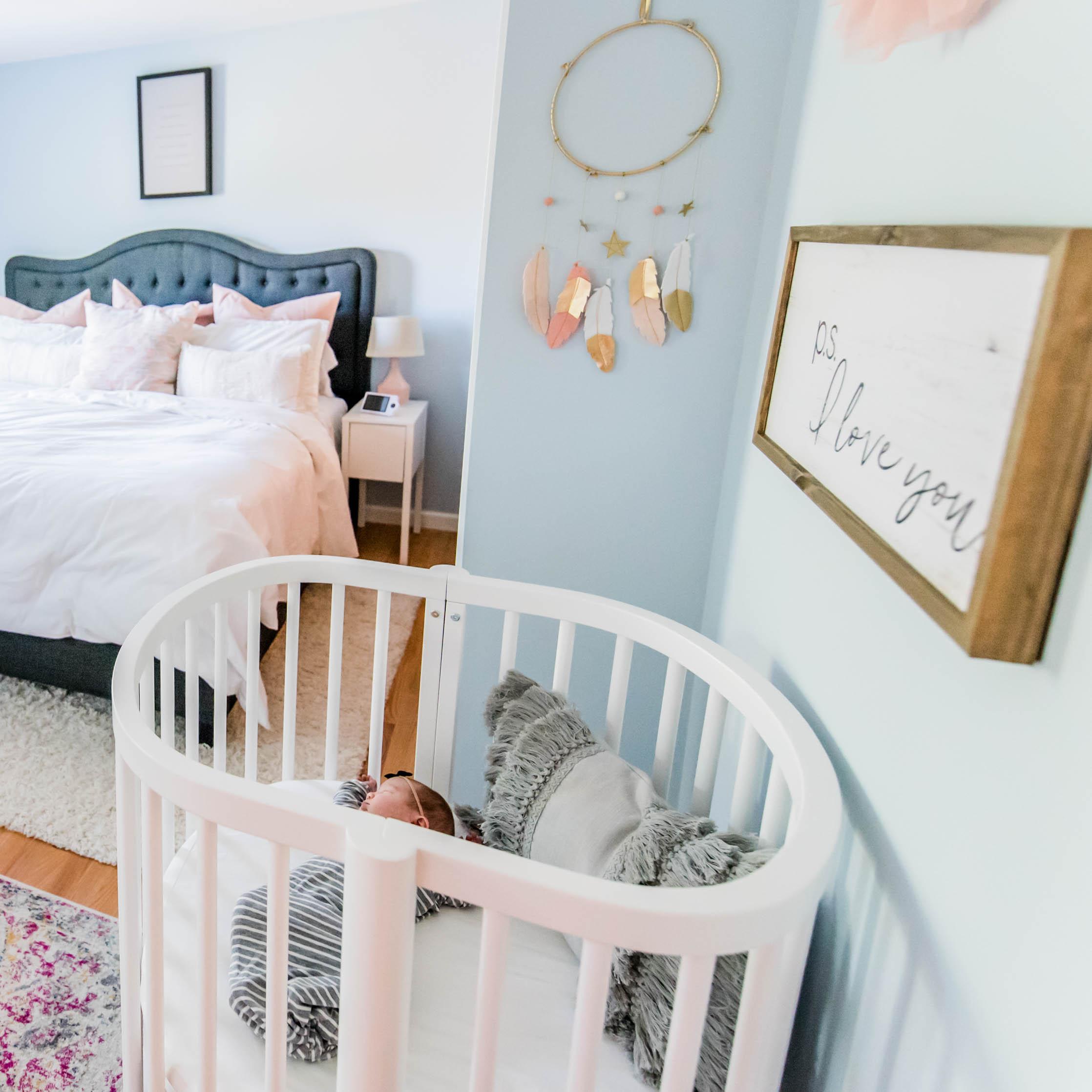 The Sweetest Little Nursery Nook in a Master Bedroom