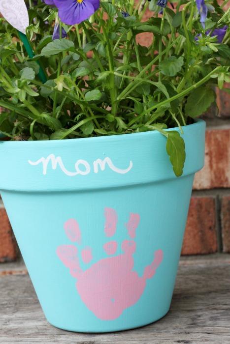 DIY Mother's Day Gift - Handprint Flower Pot
