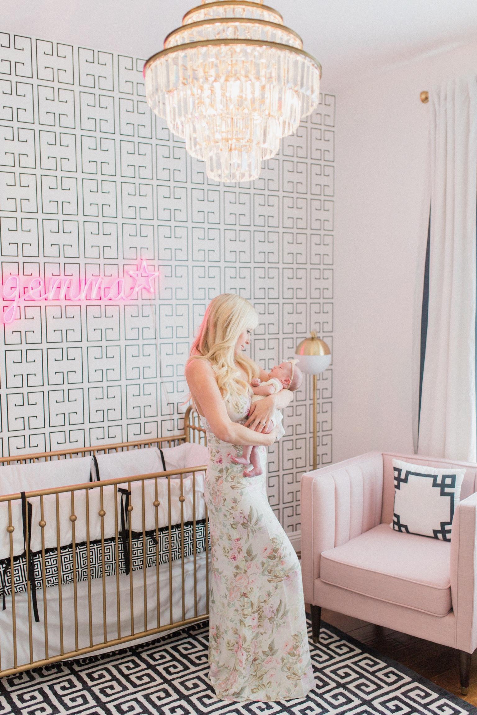 Black, White and Pink Hollywood Regency Glam Nursery