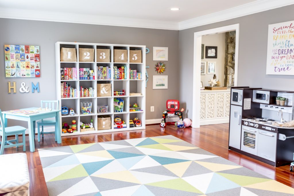 Bright and Bold Modern Playroom