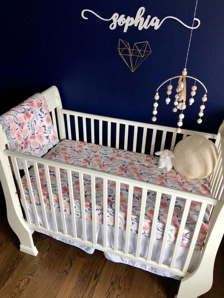 Navy Amp Blush Nursery Project Nursery