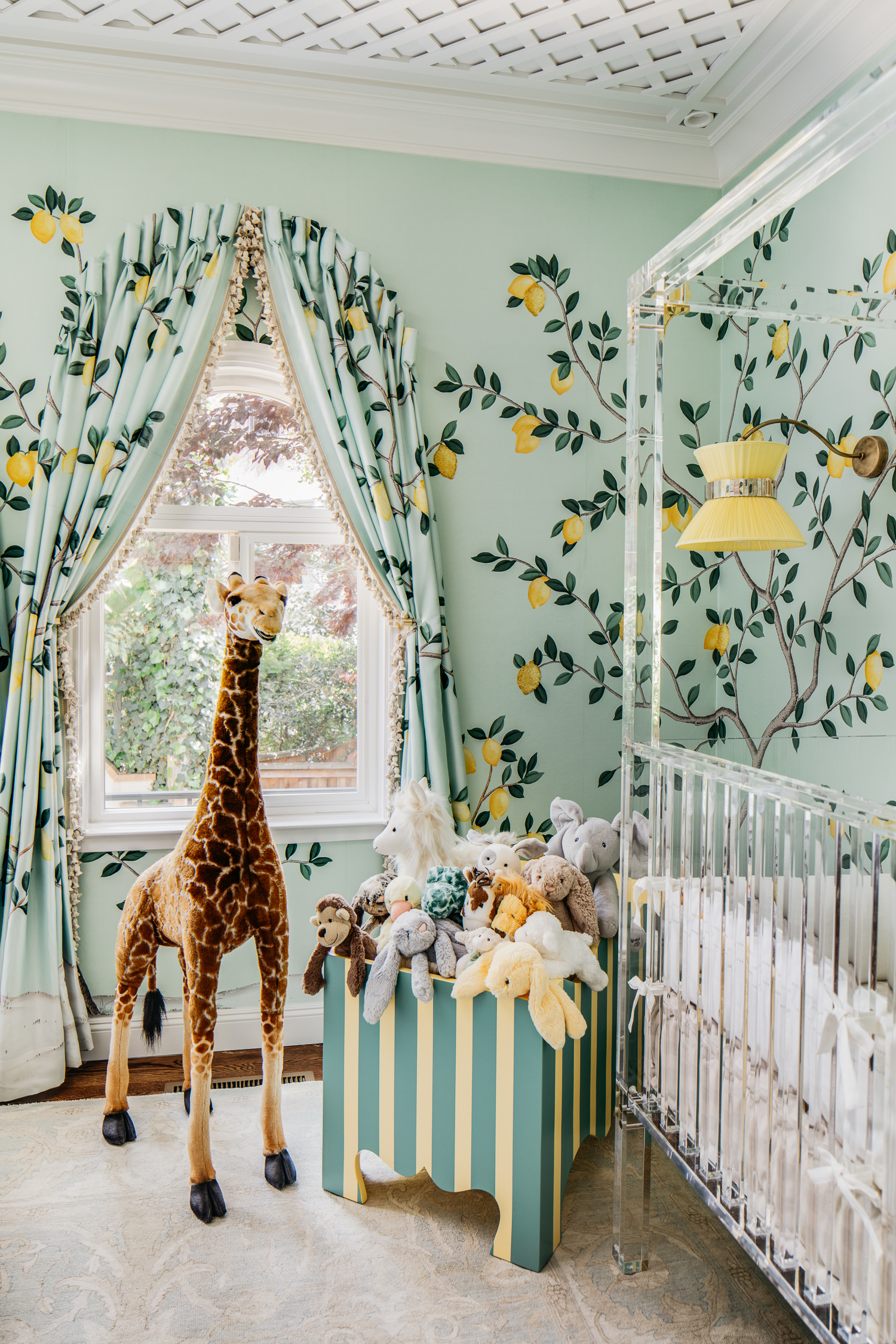 Stuffed Animal Storage in Lemon Drop Nursery