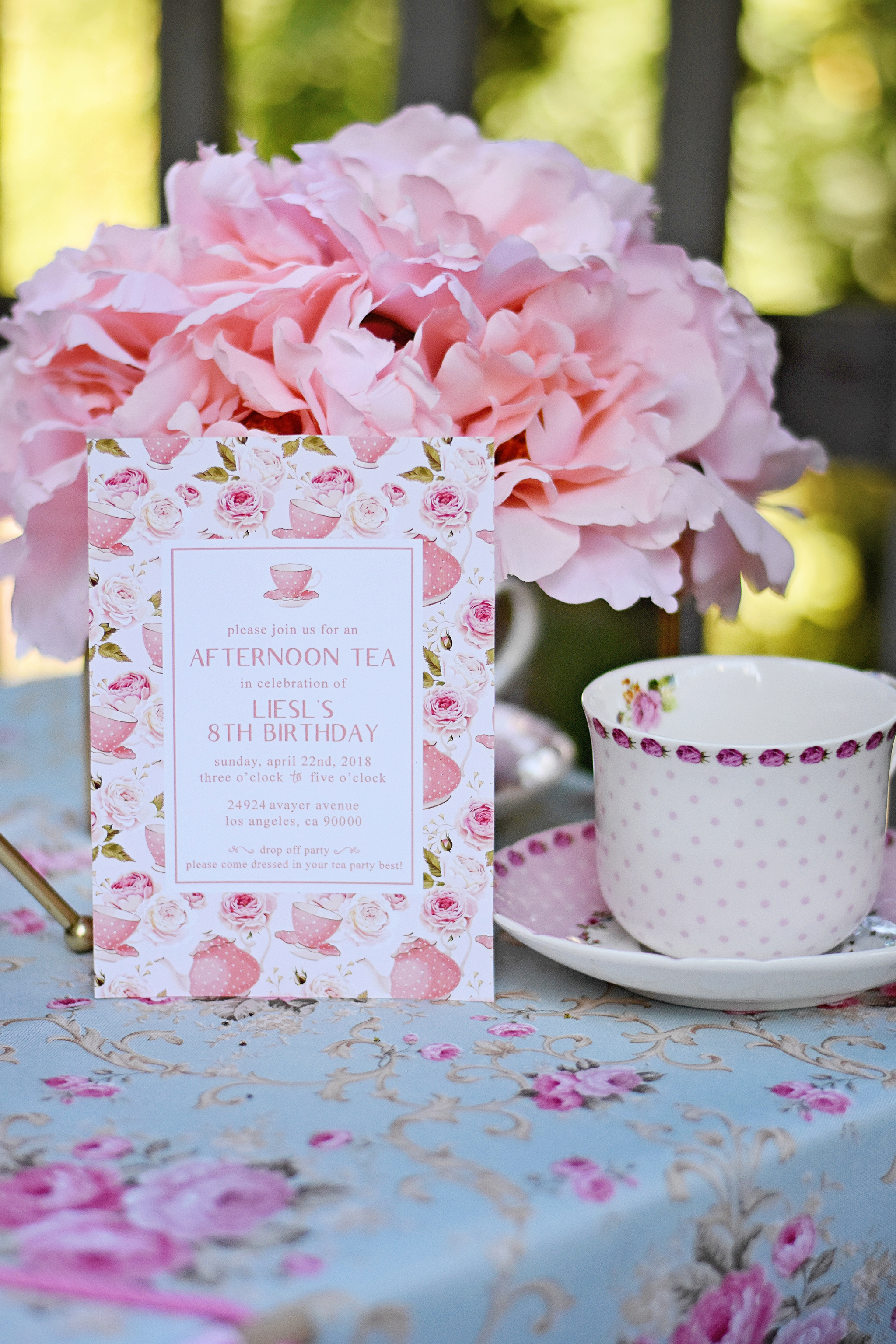 Tea Party invitations let your guests know the dress code!