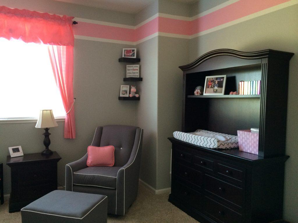 Chevron Pink Gray And White Nursery Project Nursery