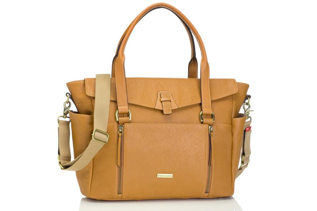 Emma Leather Diaper Bag
