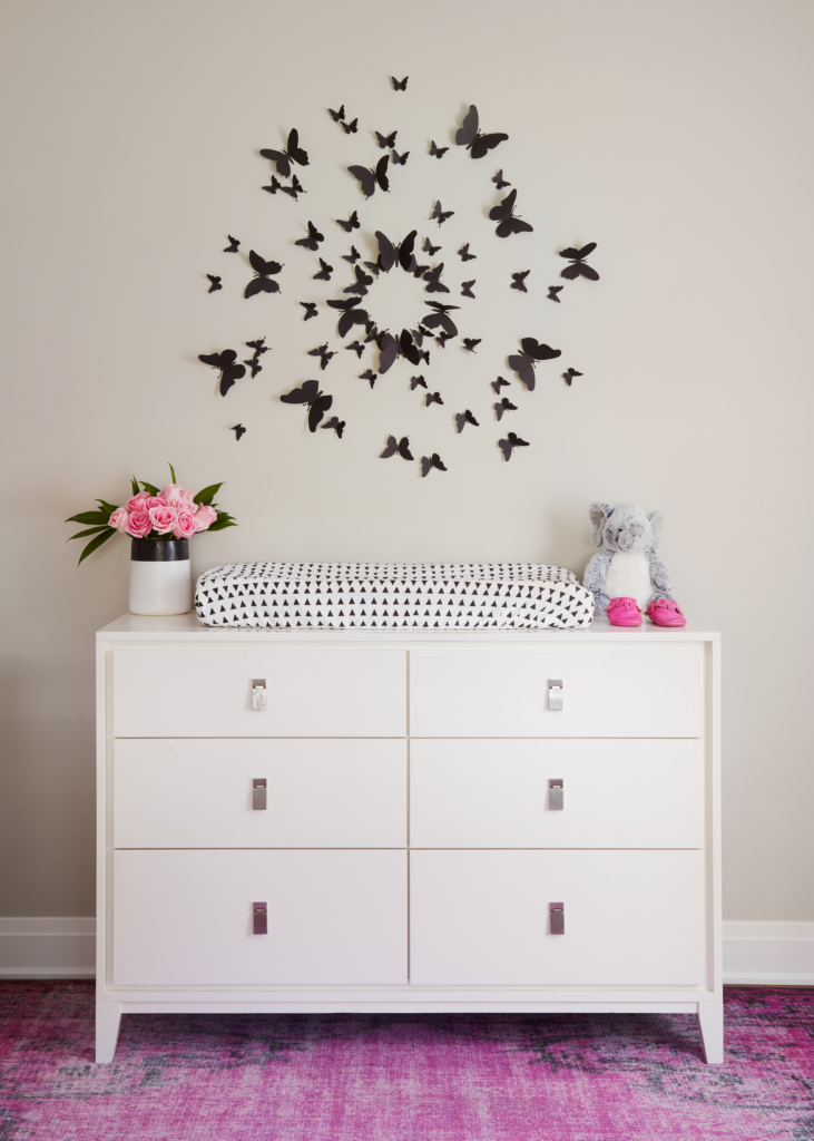Black White and Purple Nursery