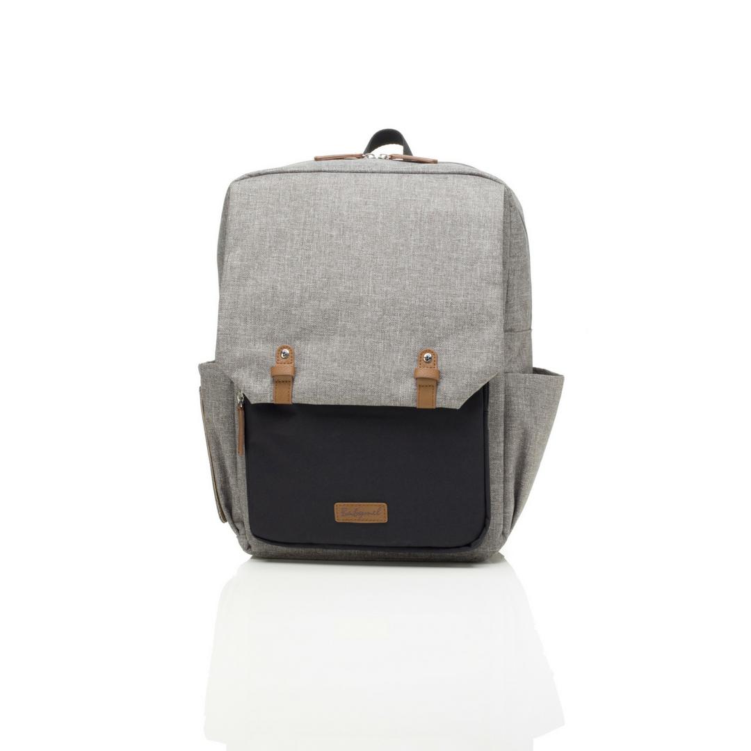 Babymel_George_Backpack_in_Black_Grey_-_Project_Nursery