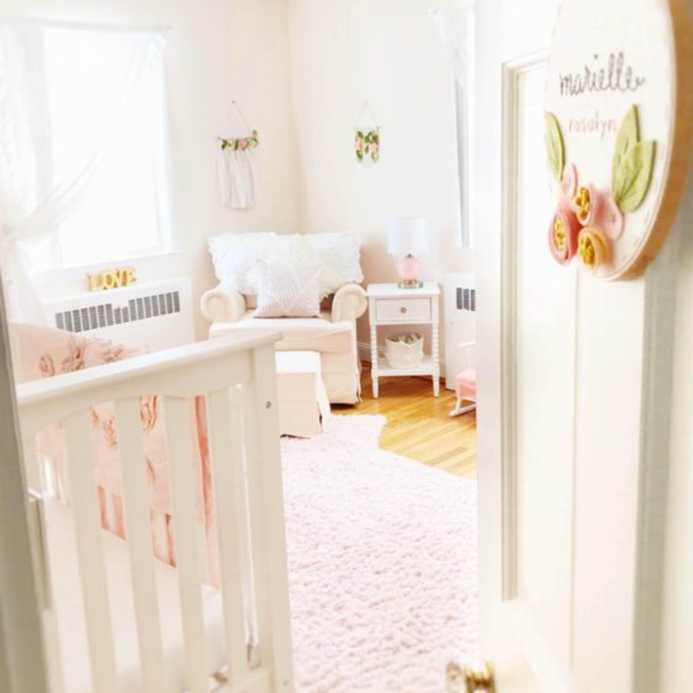Feminine Floral Toddler Bedroom
