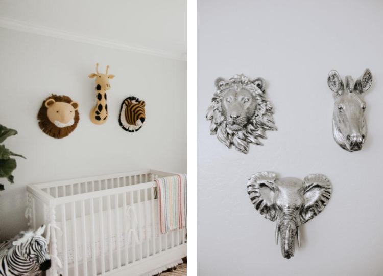 Animal Head Wall Mounts in the Nursery