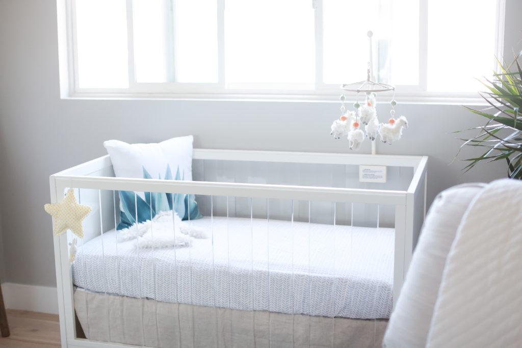 gender neutral nursery, modern nursery, beach, baby room, nursery decor, e-design, dream nursery movement