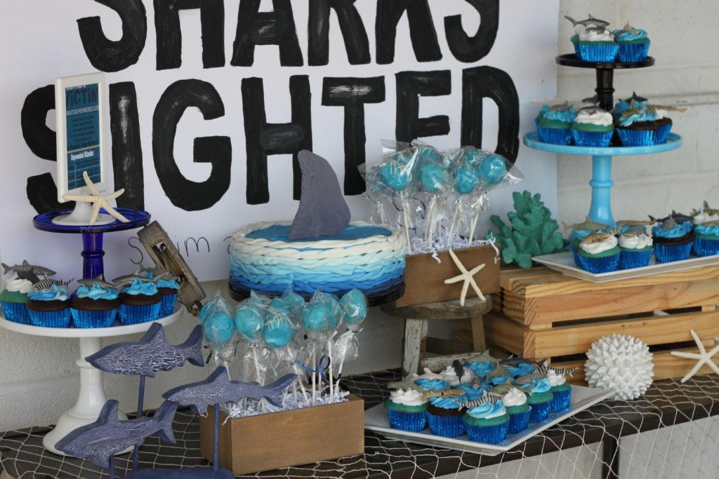 Warning Shark Attack Birthday Party