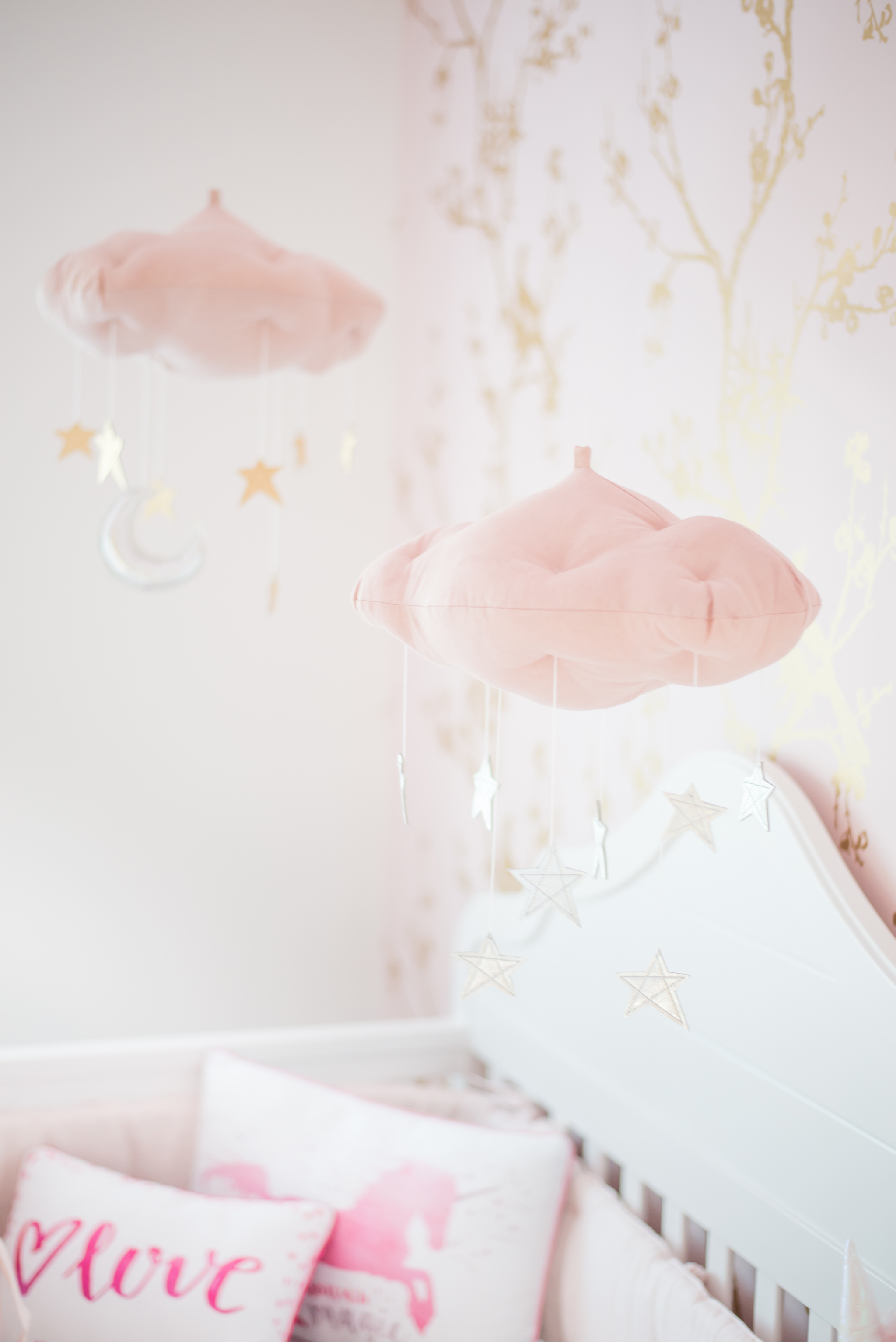 Pink, White and Gold Nursery