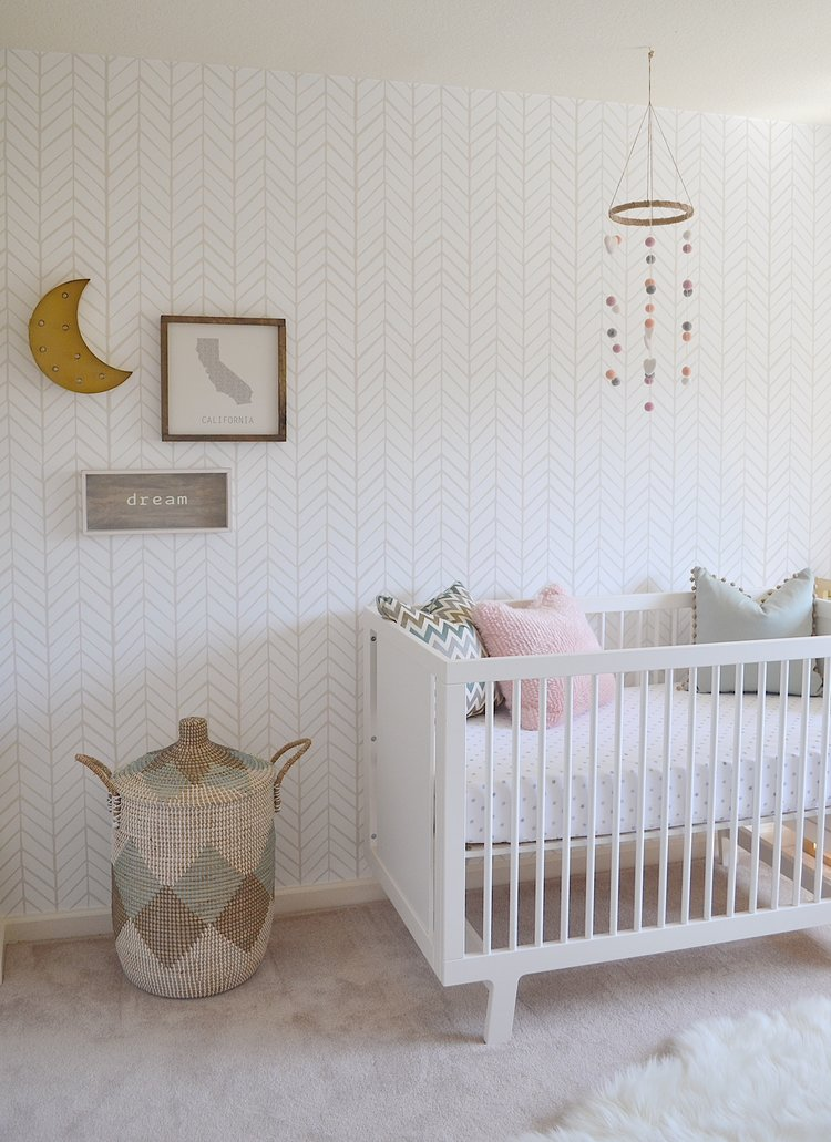 Gender Neutral Nursery Updated for a Girl